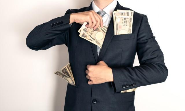 悪徳弁護士・司法書士がお金をだまし取るイメージ