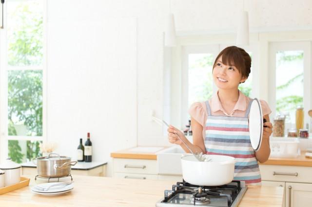 白い鍋と主婦