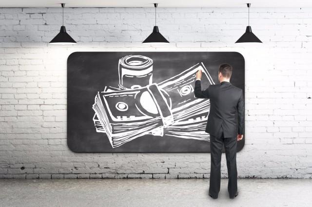 黒板とお金
